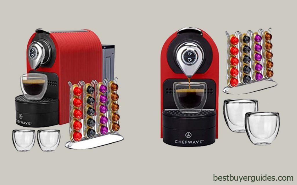 ChefWave Mini Espresso Machine - Nespresso Capsules Compatible