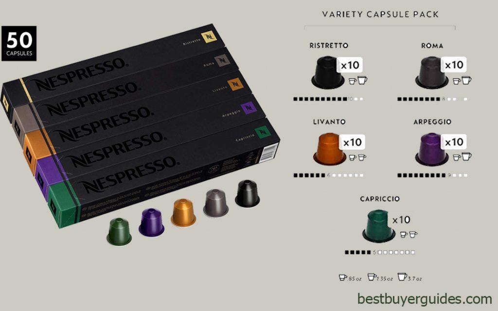 Nespresso OriginalLine Capsules Variety Pack