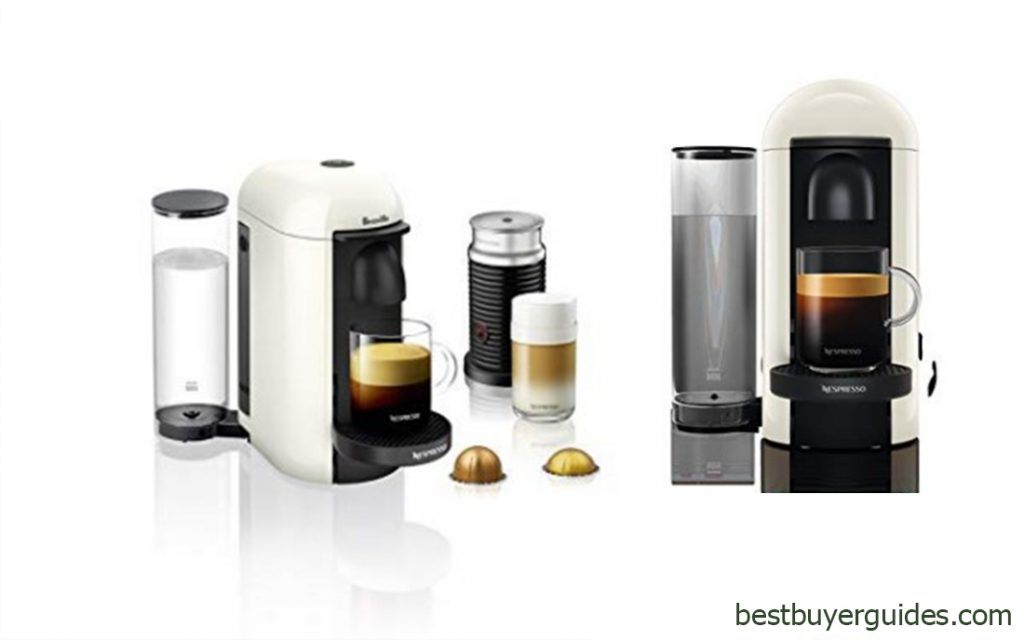Nespresso VertuoPlus Coffee and Espresso Machine Bundle with Aeroccino Milk Frother