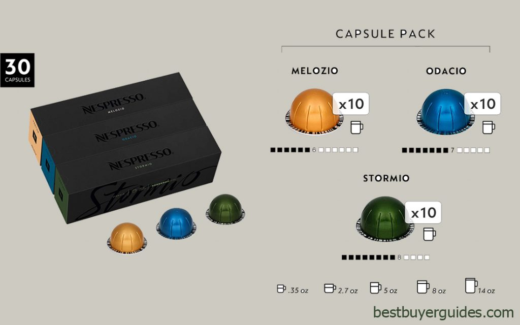 Nespresso VertuoLine Coffee 30 Capsules