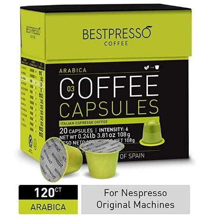 Bestpresso Coffee Arabica Blend Coffee Capsules